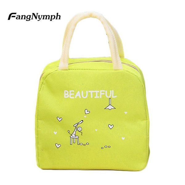 Nice Oxford Child Meal Warming Cartoon Cute Thermal Insulation Snack Lunch Bag Portable Travel Picnic Pouch