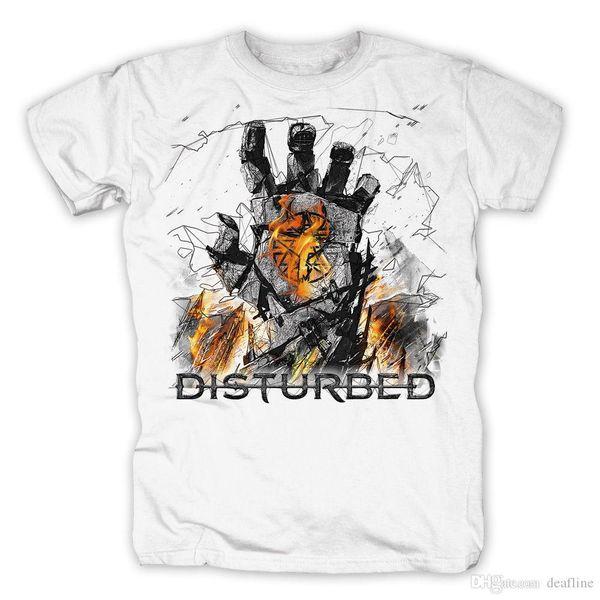 2018 Moda rahat streetwear Disturbed-SMOLDER-Offizielles Herren T-Shirt erkek Gömlek Erkekler Giysi Yenilik Serin