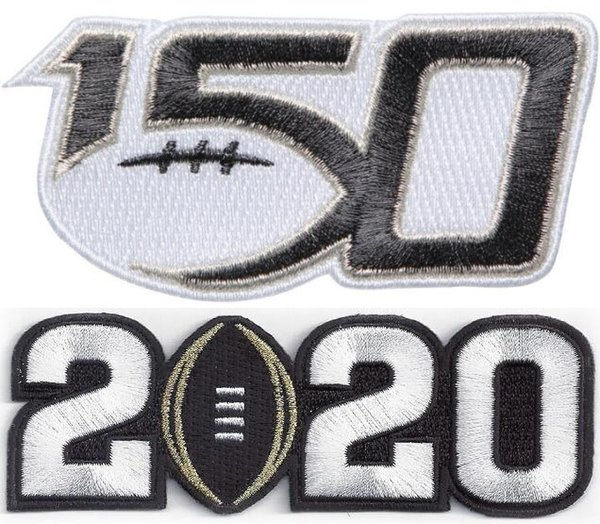 150TH & 2020 white number Patch