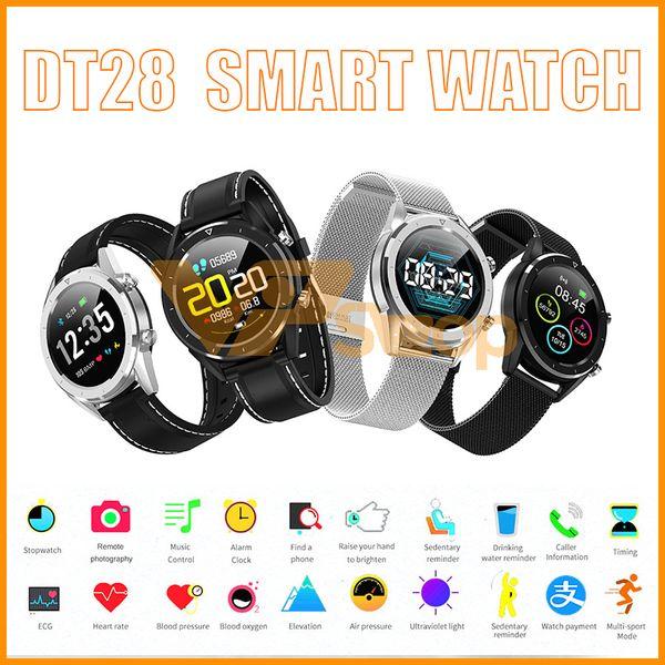 DT28 Men Smart Watch IP68 Waterproof ECG Sphygmomanometer Fitness Smart Tracker Sports Smartwatch Smart Bracelet for Adult