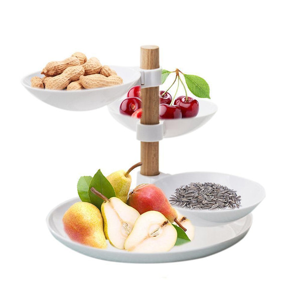 European Minimalist Style Four Layers Fruit Candy Tray Living Room Desktop Food Storage Basket Creative Home Tiered Accessory Q190618