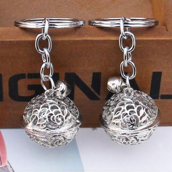 Nuovo arrivo classico argento campana portachiavi piccolo metallo campane portachiavi ragazzi ragazze bambini portachiavi casa portachiavi