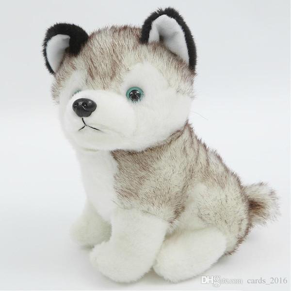 soft Hamtoys Kawaii 18 CM Simulation Husky Dog Plush Toy Gift For Kids Baby Toy Birthday Present Stuffed Plush Toy Children Boy Girl