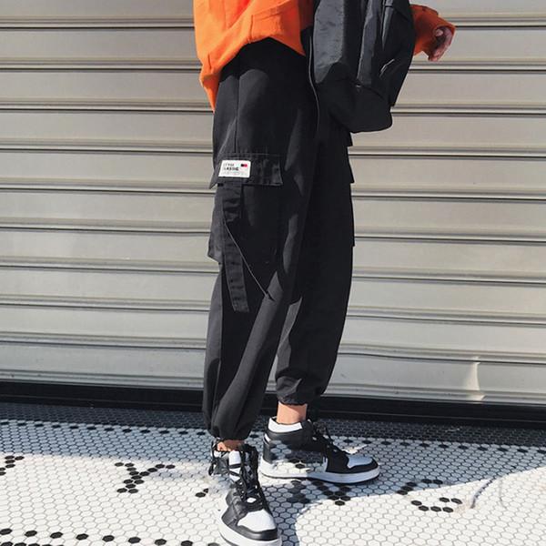 En gros 2019 Printemps Automne Cargo en vrac Salopette nationale des adolescents des garçons boysstraight jambe large coréenne longueur pantalon de survêtement