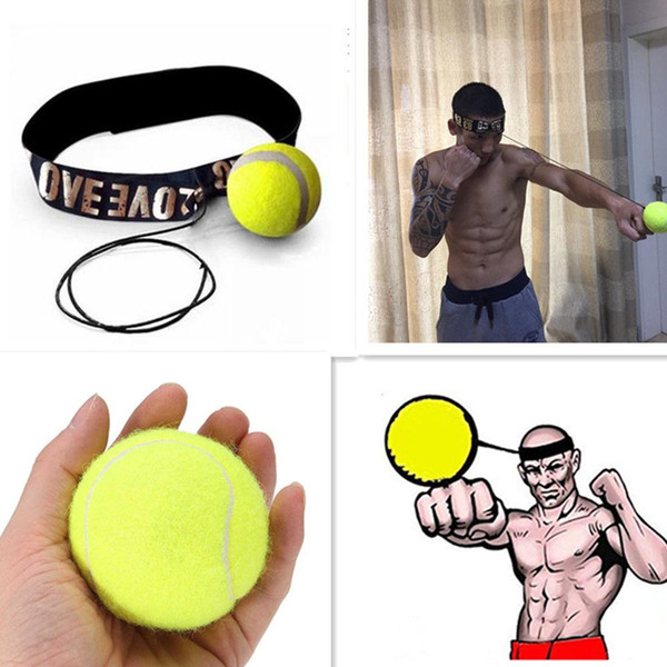 Mounchain Fight Elastic Ball with Head Band for Reaction Speed Training Boxing Punch Exercise
