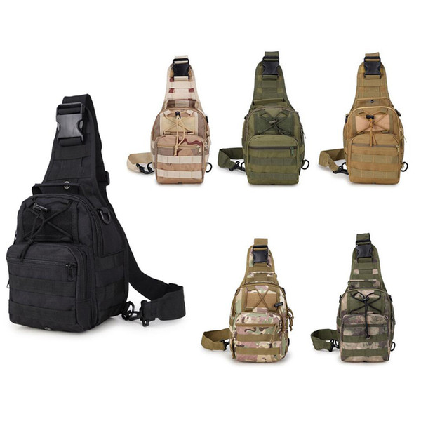 Outdoor Bag Single Shoulder Sling Bag Mountain Climbing Camouflage Messenger Tactical Chest Bag Riding Cycling Bags Backpack