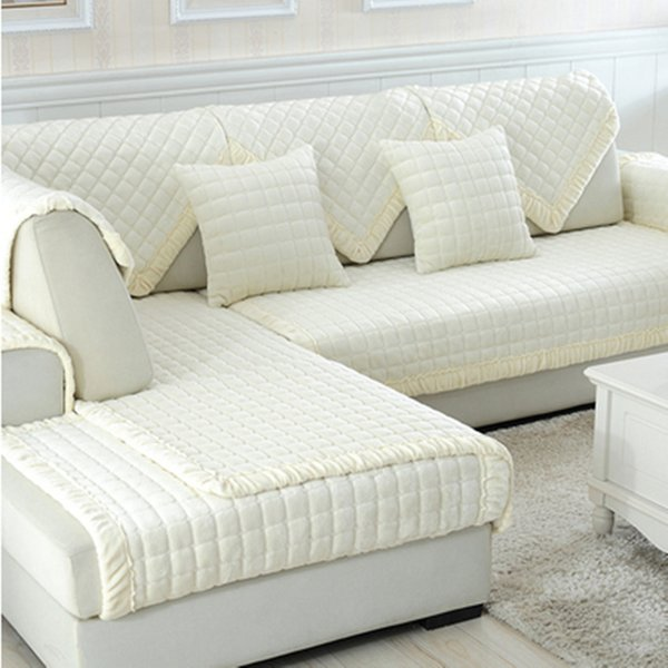 Enjoyable White Grey Plaid Sofa Cover Plush Long Fur Slipcovers Fundas De Sofa Sectional Couch Covers Fundas De Wedding Chair Covers To Buy Kitchen Chair Caraccident5 Cool Chair Designs And Ideas Caraccident5Info