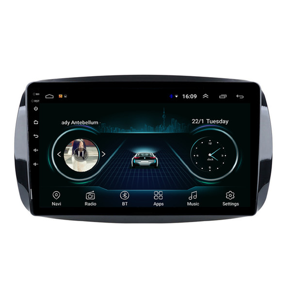 Android car free map radio HD1080 mp3 mp4 player excellent bluetooth for Mercedes Benz smart fortwo C453 A453 W453 9inch