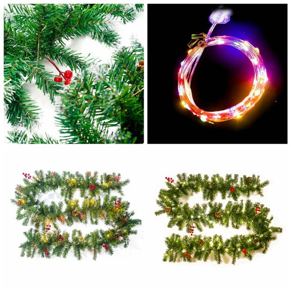 Christmas Garland For Stairs Fireplaces Garland Decoration Festive Wreath With Flower Christmas Wreath Decor