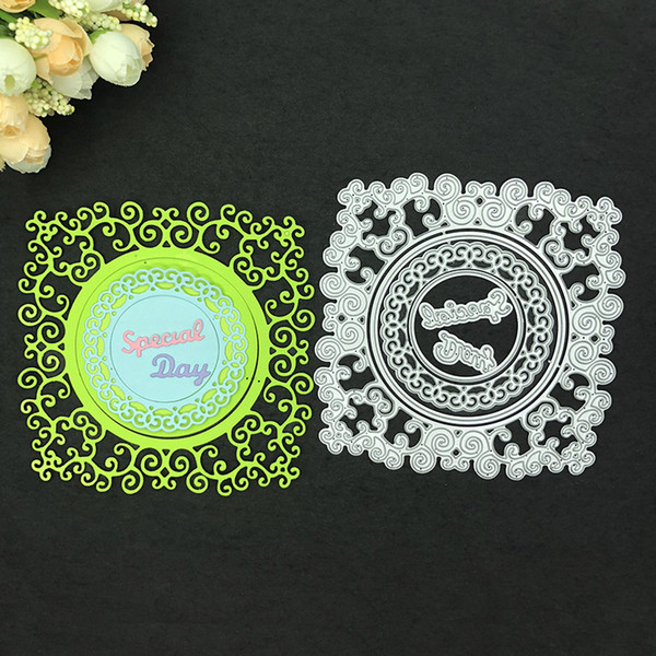 Special Day Letters Metal Cutting Dies Lace Circle Dies Scrapbooking DIY Albums Decorations Embossing Dies Paper Cards Making