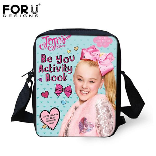 FORUDESIGNS JOJO Siwa Pattern Women's Messenger Bags Fashion Crossbody Bag for Girls Designer Female Shoulder Bag Ladies Casual