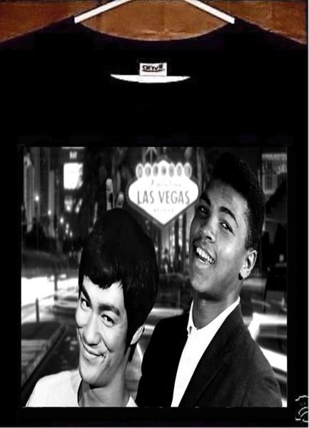Muhammad Ali T shirt; Muhammad Ali Bruce Lee Tee Shirt size discout hot new tshirt