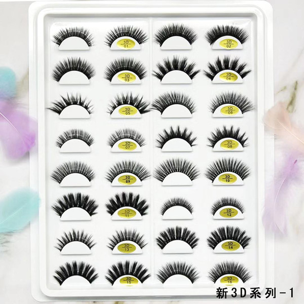 top popular OEM synthetic lashes Eyelashes Messy Eye lash Soft Extension Sexy Eyelash Full Strip Eye Lashes 2021