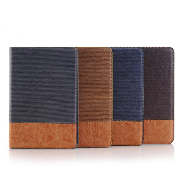 For iPad Pro 11 2018 Business Cross Pattern PU leather PC Pad Cover for New iPad 5 9.7 air 1 2 mini 1 2 3 4 Samsung T590 T595 T830 T835 OPP
