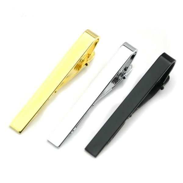 Prata Glaze Preta de Ouro dos homens Pretos Clips Ternos de Negócios Gravata Camisa Gravata Bar Fechos de Moda Jóias para Homens