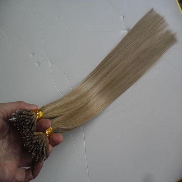 Glatt Nano Ring Haar 100% Remy Human Extensions 100g Remy Micro Perlen Haarverlängerungen In Nano Ring Links Human Hair