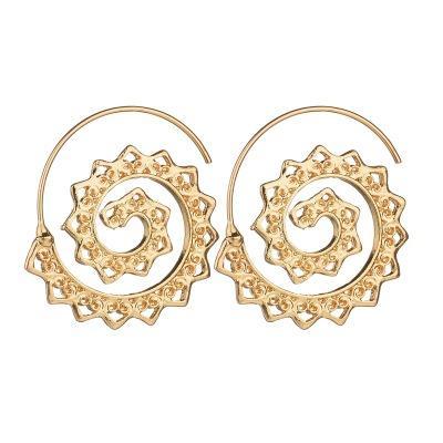 Nova Oval Espiral Brincos Exagerada Whirlpool Heart-Shaped Brincos de Restauração Para As Mulheres Do Sexo Feminino Jewely E1701