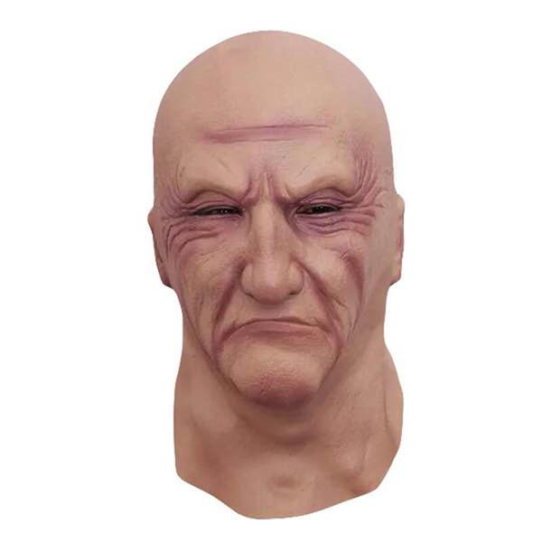 Masque réaliste Latex Vieil Homme Homme Disguise Déguisements tête caoutchouc Partie adulte Masques mascarade Props cosplay