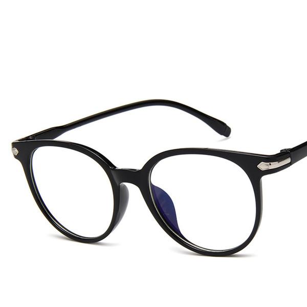Transparent Plastic Glasses Frame Unisex Glasses Clear Light Oval Plastic Frame Lens Unisex Retro Nerd Glass Spectacles Eyewear