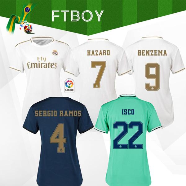 19 20 HAZARD Real Madrid soccer jerseys 2019 2020 camiseta women RM JOVIC Bale james RODRYGO SERGIO RAMOS Football girl Shirts