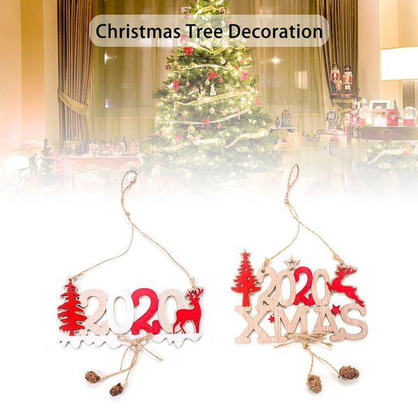 Christmas Decorations New 2020 Letter Wooden Pendant Creative Christmas Tree Decoration Decoration Supplies