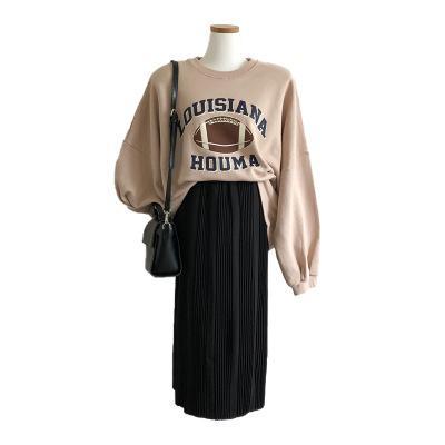 2019 automne et en hiver nouveau chandail de football imprimé lettre version coréenne des femmes de chemise pull-over en vrac