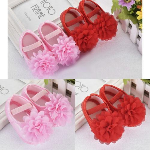 2018 New Fashion Baby Girl Spring And Autumn Soft Cloth Shoes Infant Toddler Princess Anti-Slip Cute Floral Anti-slip Crib Shoes