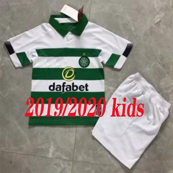 085dab97218 newest 2019 2020 kids Celtic Home Soccer Jersey Short sleeve boys Griffiths  dembele Sinclair Rogic McGregor