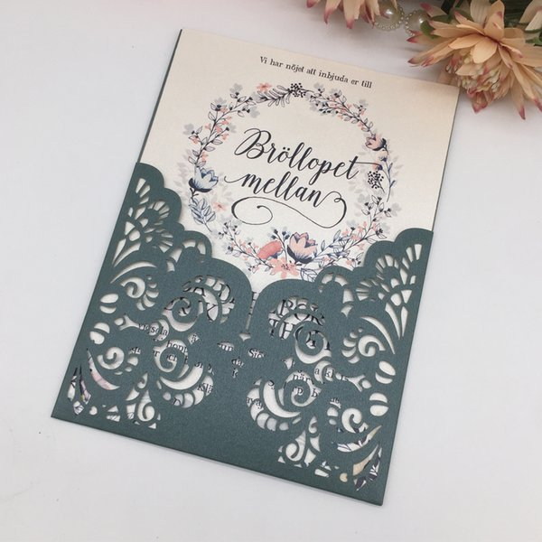 Hollow Laser Cut Invitation Card Used To Wedding Invitation Engagements Ceremony Festival Blessing Cards Wedding Invitation Wording Examples Wedding