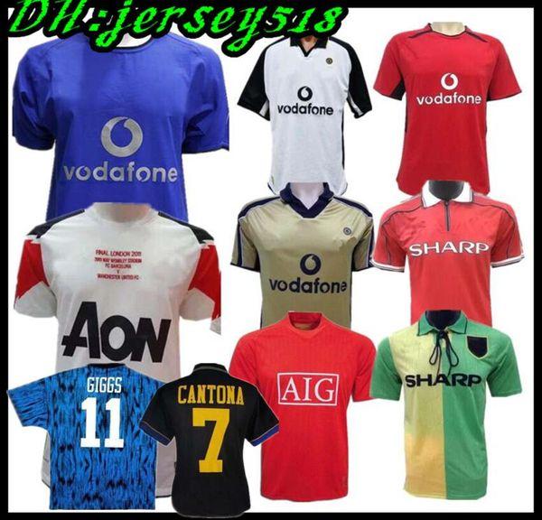 Retro Version 2001 2002 100 Jahre United CANTONA Fussball Trikot v.NISTELROOY Fußball Giggs SCHOLES BEKHAM RONALDO 98 99 Manchester 2008