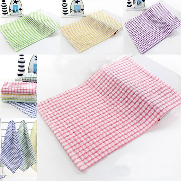 New Kitchen Dish Towels Cotton Soft Microfibre Double-sided Absorbent Non-stick oil Wash Bowl Towels Kitchen Cleaning Cloth 28*40cm