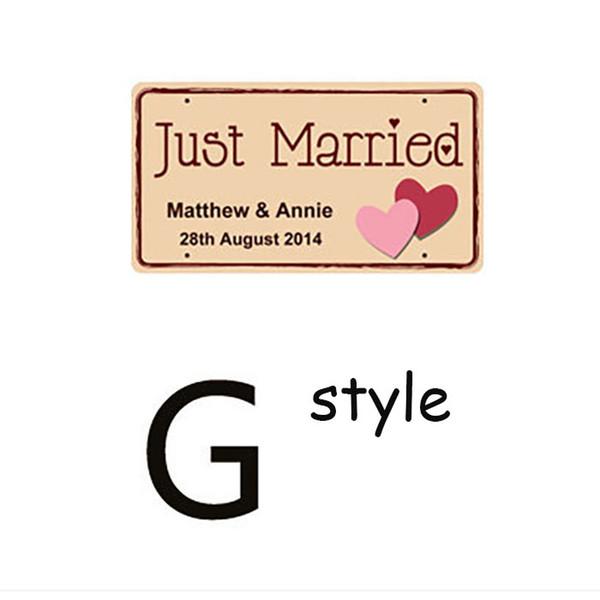 18 * 33cm appena sposati Matrimonio targa auto matrimonio decorazione decorazione floreale set rosso rosa viola stili multipli bordo di schiuma