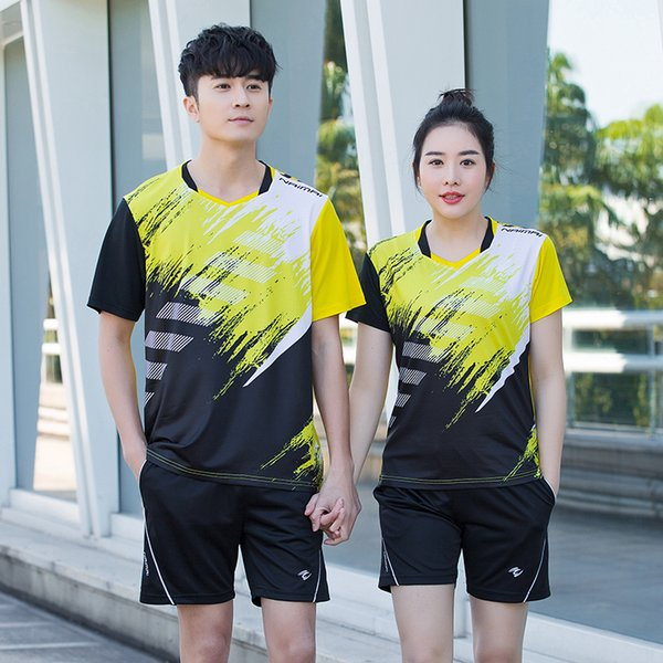 2019 New Badminton clothes Women/Men , table tennis sets , Quick dry Tennis sets ,Free Printing Name badminton wear sets