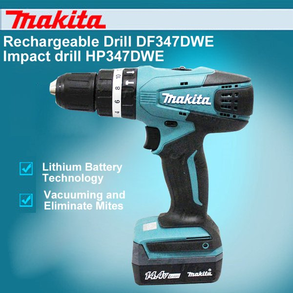 2019 Japan Makita Rechargeable Drill DF347DWE Impact Drill HP347DWE 14 4V  Lithium Electric Screwdriver From Nqingfeng, $455 14 | DHgate Com