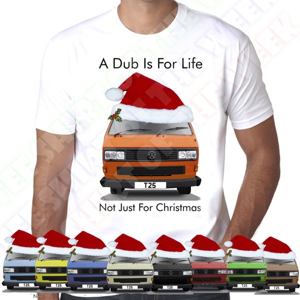 Square Headlight T25 A Dub IS For Life Not Just For Christmas White T-shirt Men's Cool Funny Tops Round Neck Tees 2018 New Brand