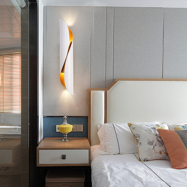 2019 Contemporary Luxury S Shape Wall Lamp Black Wall Lighting Fixtures  Gold Wall Mounted Lamps Led Sconce Lights For Bedroom Bedside Corridor From  ...