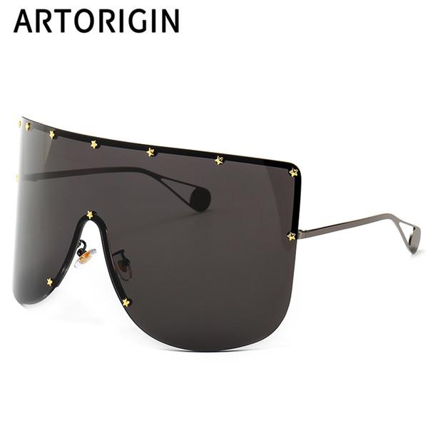 Individualidad Oversize Shades Mujer Gafas de sol grandes para mujeres Hombres Unisex Gafas Estrellas Decoración Marca Diseño Gafas