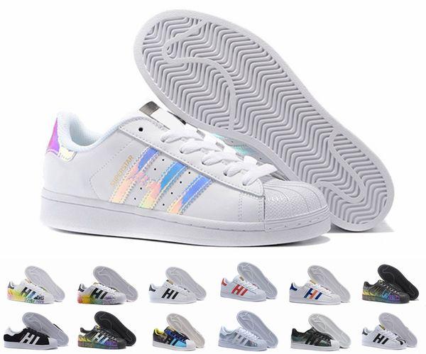 Superstar Original White Hologram Iridescent Junior Gold Superstars Sneakers Originals Super Star Women Men Sport Running Shoes 36-45