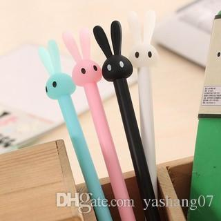 best selling School Cute Cartoon Rabbit Black Ink Gel Pens Student supplies Office supply Pen