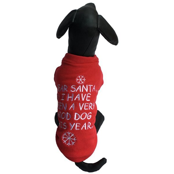 Red Dogs пальто куртки Письмо Snowflake Pattern собак Свитера Модная Одежда для собак Спорт Puppy Pet Рождественские Костюмы