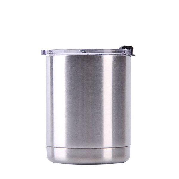DHL 10oz Stainless Steel Tumbler with Lid Vacuum Insulated Water Bottle Travel Mug Coffee Beer Cup Free Shipping