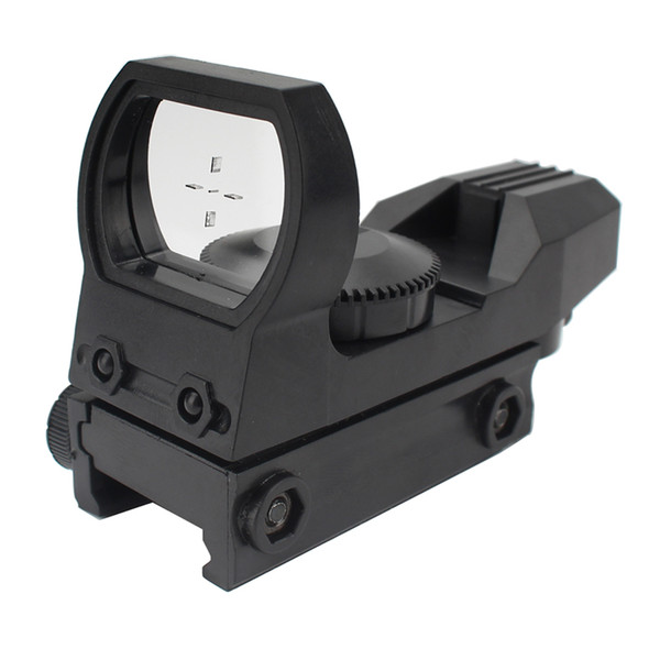 20 mm Rail Rifle Scope Caza Óptica Holográfica Green Dot Sight Reflex Tactical Scope Sight Sight para niños Accesorios para pistolas de juguete