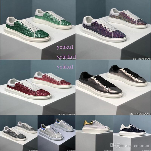 Box 2019 notizie nuova piattaforma stella scarpe casual moda di lusso scarpe piatte Mcqueens piattaforma scarpe da passeggio in pelle vestito da partito scarpe da ginnastica