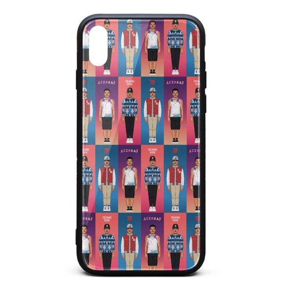 IPhone Xs Max Case 6.5 inch Chance the Rapper's Album Cover color anti-scratch screen protectors designer TPU Rubber Gel Silicone phone case