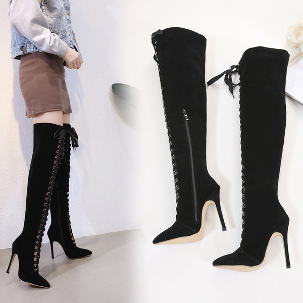 en stock 535bf 4f3a4 Compre Sexy2019 Joom European Star Fund Chalaza High Ayuda Overknee Cool  Woman Boots Zapatos De Mujer Extranjero A $74.96 Del Chagall | DHgate.Com