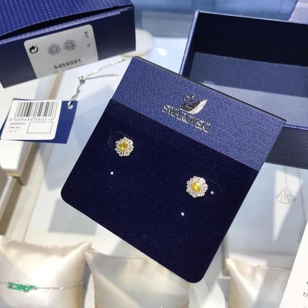 Designer de Moda Coroa de Casamento Do Parafuso Prisioneiro Brinco de Prata 925 Charme Jóias mulheres Cristal Anéis de Ouvido presente festivo grátis