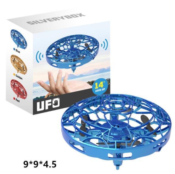 Toptan UFO Hareket İndüksiyon Süspansiyon Aircraft Akıllı Uçan daire ile LED Işıklar Yaratıcı Oyuncak Entertainment 9cm kırmızı, sarı, mavi renk