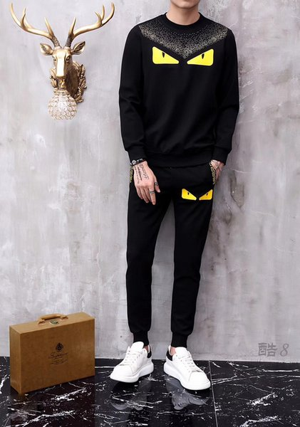 Free shipping 2019 new high quality casual sports sweater suit brand men's twist knitted cotton sweater pullover pullover sweater pony game