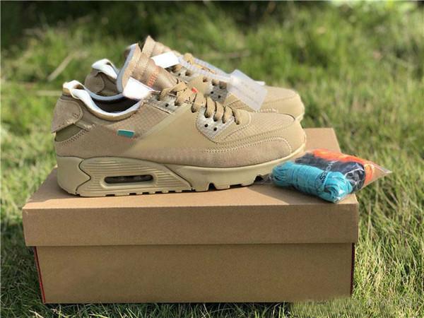 2018 neue Ankunft Mens Designer Schuhe 90 Desert Ore Schwarz Weiß Laufschuhe Männer Frauen 90er Jahre Sport Turnschuhe