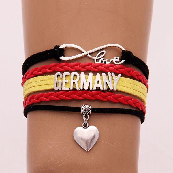 German Flag Bracelet GERMANY Letter Chain Bracelet